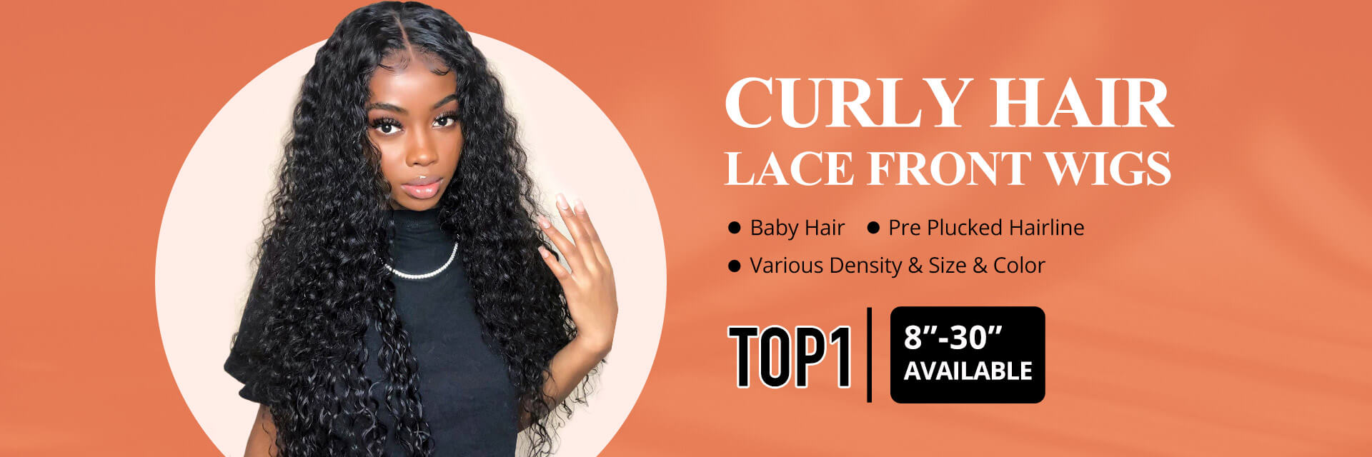 curly hair lace front wigs with baby hair and pre plucked hairline