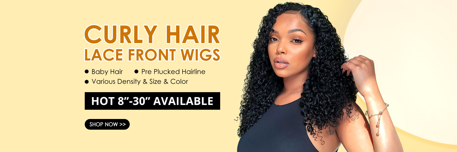 West kiss hair store offers curly lace front wigs on sale
