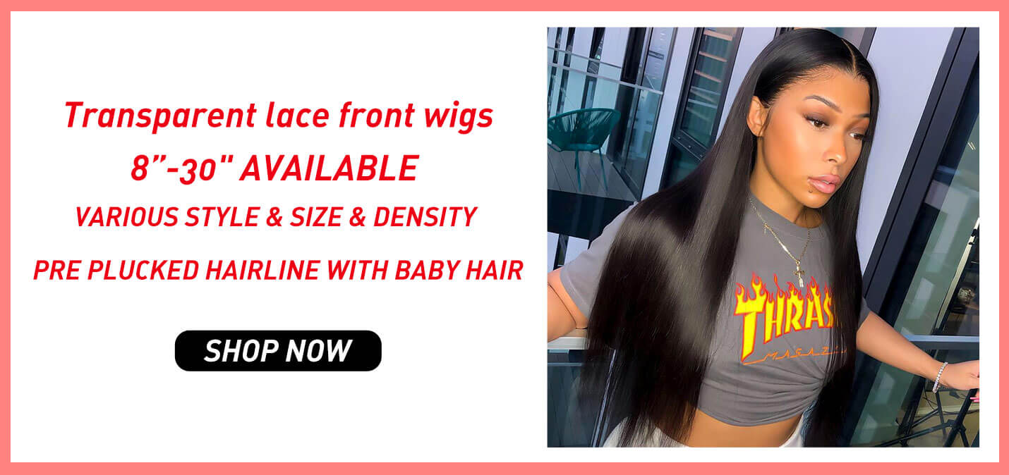 transparent straight and body wave lace front wigs