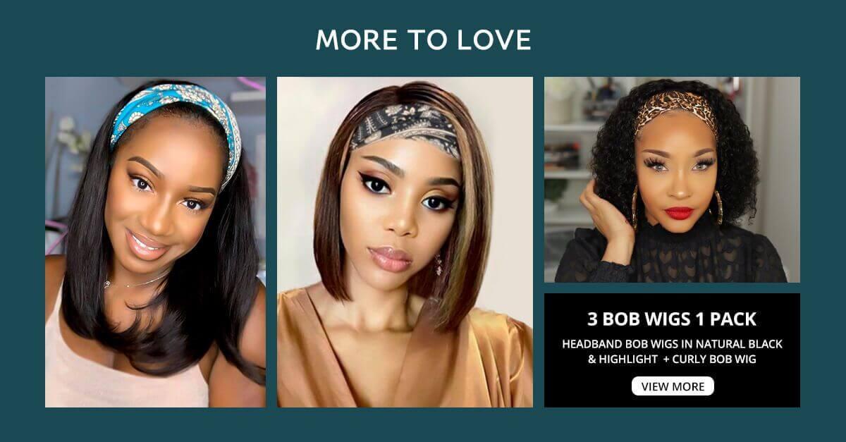 5 bob wigs deals in 1 pack