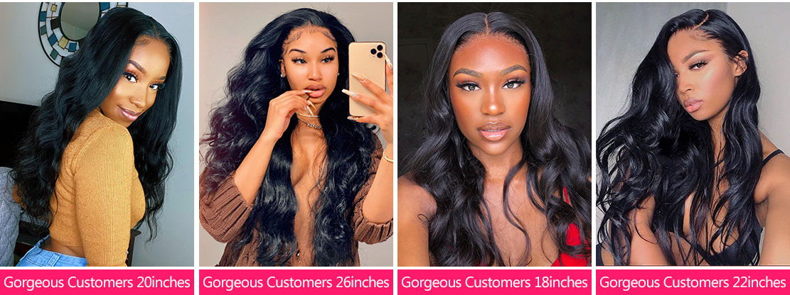 Body Wave Density Lace Front Wigs Show