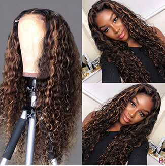 curly highlight wigs